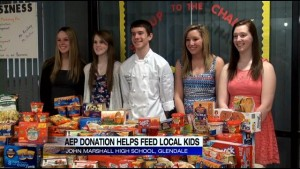 John Marshall FBLA helps feed those in need.