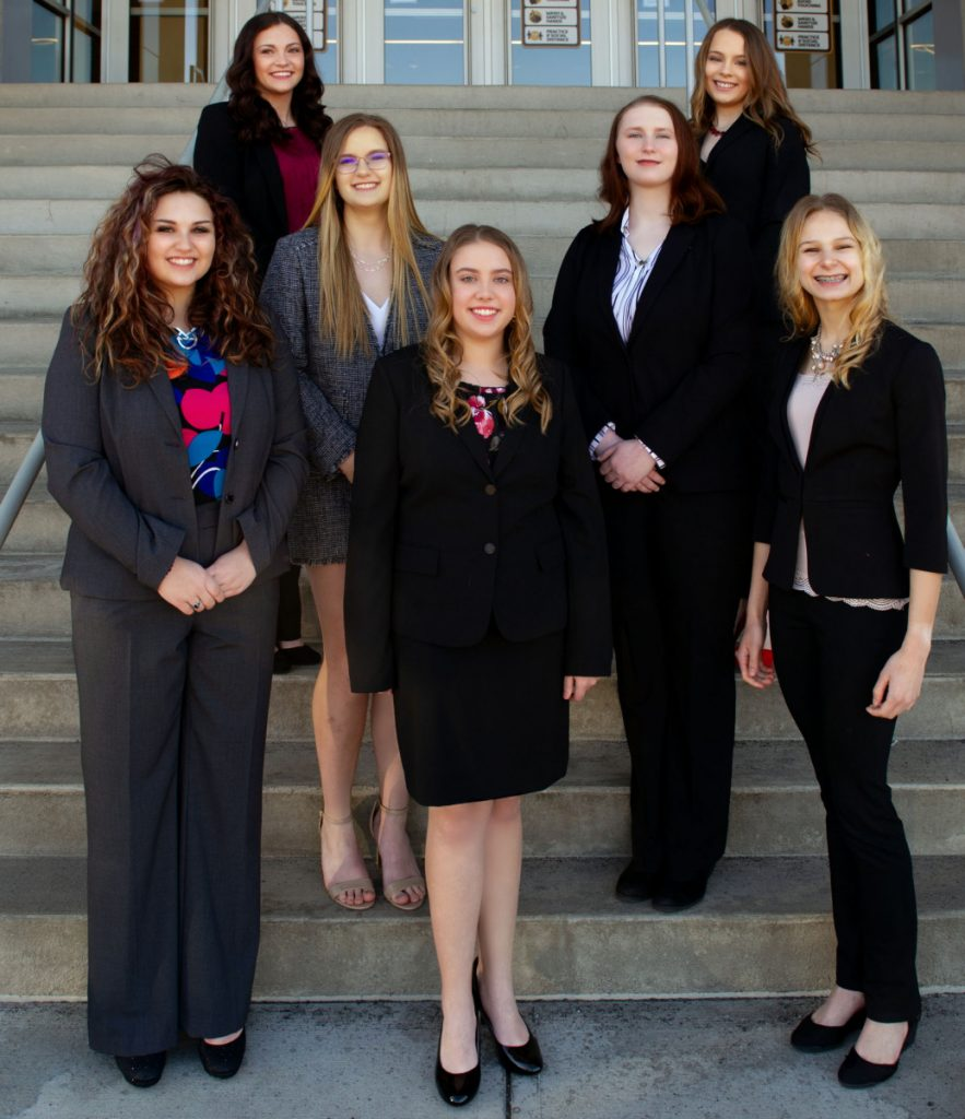 Pictured are the 2012 JM Queen of Queens contestants. Front row from left: Hannah Lynch, Lakyn Parker and Zara Zervos. Middle row: Sophia Baird and Leah Reuschel. Back row: Hailey Henderson and Natalie Keim. Not pictured: Marianna Martinez.