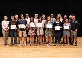 Cameron High School senior Shelby Berardi and John Marshall High School seniors Kaitlyn Groves, Austin Love, Colten Magers, Larissa Magers, Chas McCool, Tyler Sadoski, Taylor Sessums, Jacob Wilkerson and Emily Wright have each earned a $1,100 scholarship.