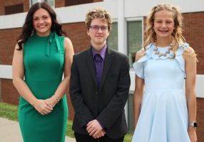 from left, alphabetically, is the Top 1%: Haleigh Henderson, Sav Nelson and Zara Zervos.