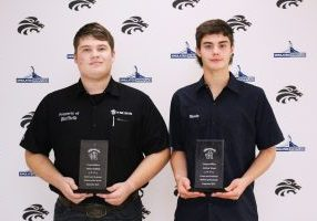 Jaden Duffield and Jordan Wood have been named Career & Technical Education Students of the Month at John Marshall High School for September.