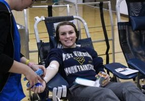 Students, faculty and staff along with community members gathered at John Marshall High School on Monday, November 5, 2018 to donate blood.