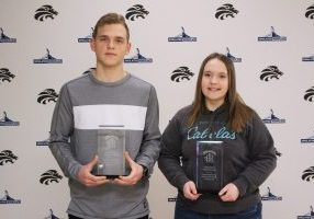 Hallie McCardle and Tristan McKeag have earned the title of John Marshall High School Career & Technical Education Students of the Month for February.