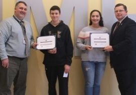 The Knights of Columbus John Marshall High School Students of the Month for October are Lea Landers and Kenneth Arrick.
